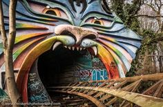 Spreepark, Berlin, Germany. Abandoned amusement park.