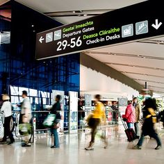 Dublin Airport (DUB) - Aerfort Bhaile Átha Cliath in Dublin Dublin Airport, Dublin City, Dublin Ireland, Ireland Travel, Honeymoon On A Budget, Stay In A Castle, Wayfinding Signage, Republic Of Ireland, Travel Maps