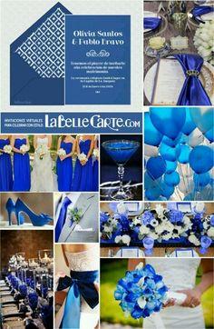 Wedding in royal blue Wedding Color Schemes, Wedding Colors, Wedding Flowers, Card Table Wedding, Wedding Cards, Dream Wedding, Wedding Day, Trendy Wedding, Wedding Invitations Online