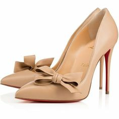 Christian Louboutin United States Official Online Boutique - Madame Menodo 100 Nude 1 Leather available online. Discover more Women Shoes by Christian Louboutin Pretty Shoes, Beautiful Shoes, High Heel Pumps, Stiletto Heels, Pumps Heels, Zapatos Shoes, Shoes Sneakers, Christian Louboutin Outlet, Christian Louboutin Shoes
