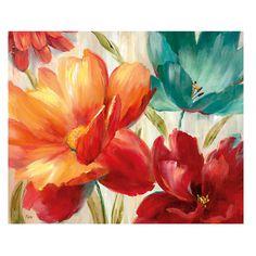 Tangletown Fine Art Flamboyant III By Lisa Audit, Gallery Wrap Canvas, Green Art Floral, Hand Painted Canvas, Canvas Wall Art, Flower Painting Canvas, Flower Art, Art Decor, Art Prints, Decoupage, Wrapped Canvas