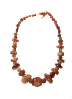 Amber necklace with Ribe Coins. Viking age.