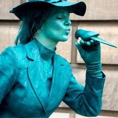 Book our Blue living statue for your event. Our living statue is available for hire in London and around the UK.