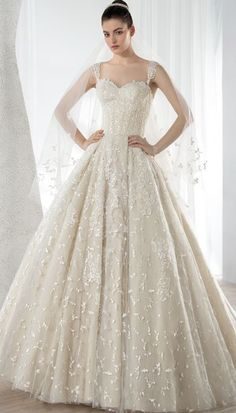 Wedding dress idea; Featured Dress: Demetrios