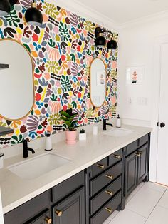 The Design Files, Bathroom Inspiration, House Colors, Sweet Home, New Homes, Room Decor, House Styles, Colorful Bathroom, Quirky Bathroom