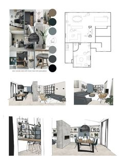 Portfolio Design Layouts, Layout Design, Design De Configuration, Portfolio D'architecture, Architect Portfolio Design, Interior Design Portfolios, Interior Design Sketches, Interior Design Boards, Home Interior