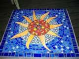 Image detail for -Funky Round Mosaic Table - by Donna Coogan from Mosaics Art Gallery