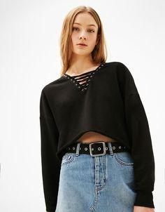 Women's Sweatshirts & Hoodies for Spring Summer 2017   Bershka