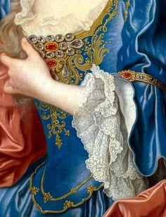 Infanta María Ana Victoria de Borbón by Jean Ranc, 1725, detail