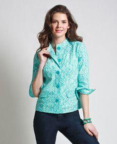 Northern Reflections Little Damask Jacket Damask, Tunic Tops, Jackets, Women, Fashion, Down Jackets, Moda, Damascus, Fashion Styles