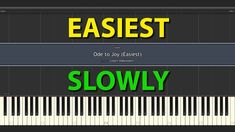 Ode to Joy EASIEST Piano Tutorial SLOWLY SPEED Piano Tutorials for Everybody Ode To Joy, Piano Tutorial, Easy Piano, Company Logo, Tutorials, Wizards