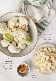 Cauliflower Parsnip Mash w/ Roasted Garlic