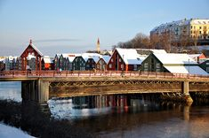 Old town bridge in Trondheim, Norway