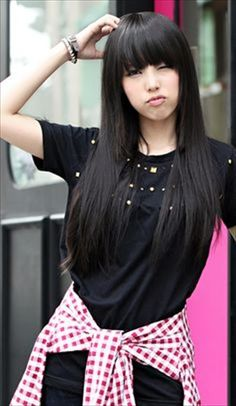Long korean hairstyles 2015