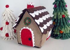 betz white's gingerbread house with door trim & wreath.