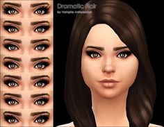 Mod The Sims - Dramatic Flair -7 mascaras-