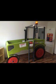 traktor trecker bett kinderbett diy kinderbetten und co. Black Bedroom Furniture Sets. Home Design Ideas