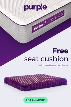 Introducing the NEW Purple® Mattress! Kick that memory foam mattress to the curb, and treat yourself to some revolutionary Purple science. Purple lets your hips and shoulders relax into the Smart Comfort Grid™ so your back still gets the support it needs. That means luxurious comfort on your joints and a happily aligned spine all at once.