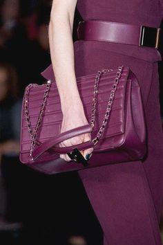 Luxurious purple at Elie Saab Fall 2014 - Best Runway Bags Paris Fashion Week Bags Magenta, Shades Of Purple, Lilac, Bouchra Jarrar, Fendi, Gucci, Elie Saab Fall, Latest Bags, Mk Bags