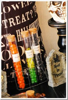 Test Tube Treats--made these for the fall Skyline retreat goodie bags