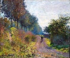 The Sheltered Path, 1873 by Claude Monet. Impressionism. landscape