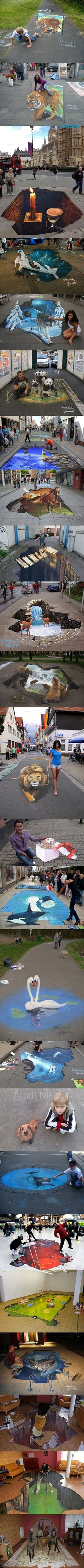 Funny pictures about Best of street art. Oh, and cool pics about Best of street art. Also, Best of street art. 3d Street Art, Amazing Street Art, Cool Pictures, Funny Pictures, Funny Images, Funniest Pictures, Beautiful Pictures, Travel Pictures, Pavement Art