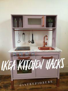 purple rose gold copper grey ike kitchen hack makeover kids toddler children play craft diy