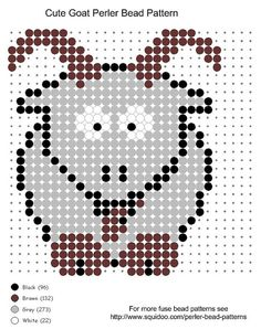 Cute Goat Perler Bead Pattern