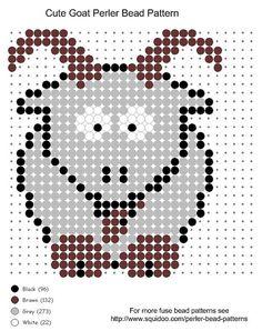 Cute Goat Perler Bead Pattern