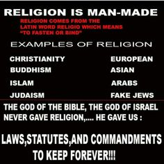 Religion is Man-Made