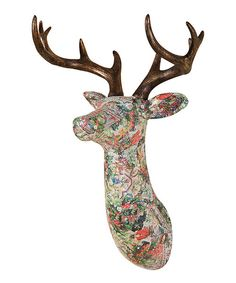 projects ideas dear head. Take a look at the Decoupage Stag Head on  zulily today I will have this one day For Home Pinterest Wall mount