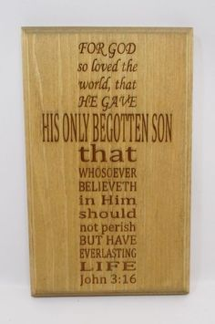 Wood Plaque For God So Loved The World Primitive Country Wall Decor #Handmade #PrimitiveCountry