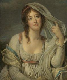 Portrait of Madame van Westrenen of Tremaat (1802). Jean-Baptiste Greuze (French, 1725-1805). Oil on panel.