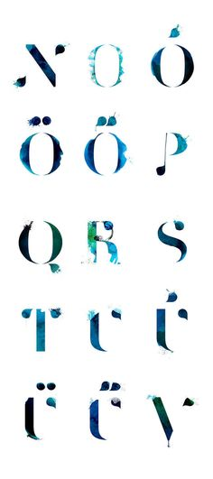 Horrisomnia: initials & pictos by stratyap , via Behance