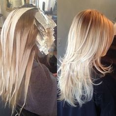 Balayage hair #blonde #highlights