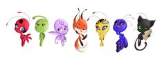 Miraculous: Tales of Ladybug & Cat Noir: Photo Ladybug Kwamis, Ladybug Cartoon, Ladybug Comics, Lady Bug, Tikki Y Plagg, Les Miraculous, Ladybug Und Cat Noir, Miraculous Ladybug Fan Art, Bugaboo