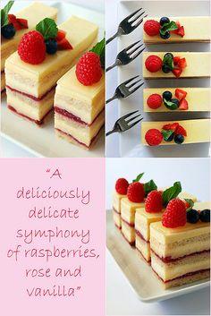 Raspberry Rose Vanilla Cream Cake   Flickr - Photo Sharing!