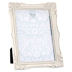 "Shabby Tabletop Frame, White, 5"" x 7"" in color ."