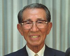FILE - In this May 20, 1996 file photo, former Japanese straggler Hiroo Onoda answers questions from media during a news conference in a Man...