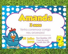 Convite Galinha Pintadinha em PDF