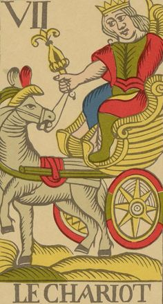 The Chariot - Vandenborre Bacchus Tarot (Tarot Flamand de 1780)