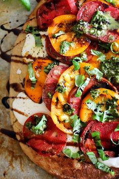 Almond Flour Pizza Crust (+ Caprese Pizza with Chimichurri Sauce)