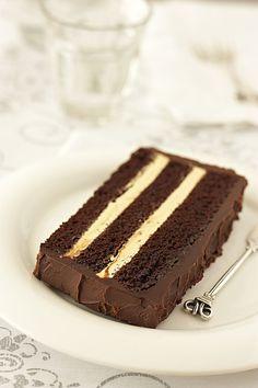 Sweet corner: Čokoladna torta sa kremom od maslaca i kave/Chocolate cake with espresso buttercream Bolo Mocha, Café Mocha, Baking Recipes, Cake Recipes, Dessert Recipes, Yummy Recipes, Cake Cookies, Cupcake Cakes, Cupcakes