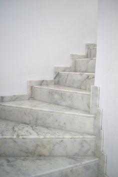 Escalera Mármol Blanco Ibiza   Cauvells