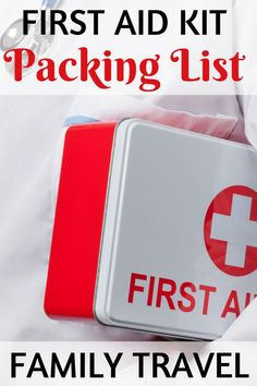 Traveling with kids? Be sure to bring along the right medicines and first aid gear for your little ones with this first aid kid packing list for families.