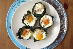 Baked Egg and Kale Cups by onehungrymama #Eggs #Kale #onehungrymama