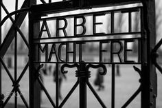 """Work makes you free - """"Arbeit macht frei"""" is a German phrase meaning """"work sets you free."""" The slogan is known for appearing on the entrance of Auschwitz and other concentration camps."""