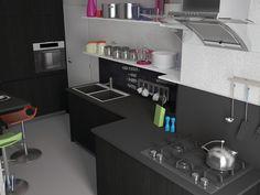 I love the kitchen #13seven #interiordesign #homedesign #arredamentointerni #interiordecoration #furniture #homedecoration #blackkitchen #kitchen