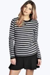 Charlie Zig Zag Knit Jumper Get wonderful discounts up to 60% Off at Boohoo with Coupon and Promo Codes.