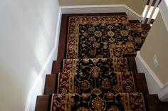 @Nourison Industries stair runner.  The Nourison 2000 collection is one of our favorites.  Notice the onsite mitred corner performed by our installers.  Hemphill's Rugs & Carpets Orange County, CA www.RugsAndCarpets.com